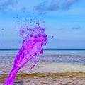 Pink water splash Royalty Free Stock Photo