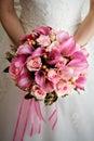 Ružový svadobná kytica
