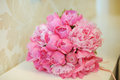 Pink Wedding Bouquet Stock Photography