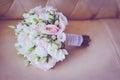 Pink wedding bouquet closeup Royalty Free Stock Photo