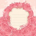 Pink wedding floral grunge background Stock Photography