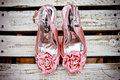 Pink Wedding Shoes Royalty Free Stock Photo