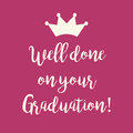 Pink Well done on your Graduation greeting card