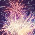 Pink and white fireworks Royalty Free Stock Photo