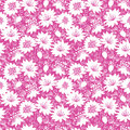 Pink and white floral silhouettes seamless pattern
