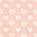 Pink and white hearts and script background love perfect for wedding or valentines day Stock Images
