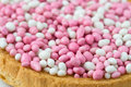 Pink and White Muisjes Stock Image