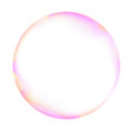Pink and white soap bubble Royalty Free Stock Photo