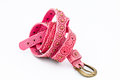 Pink women belts Royalty Free Stock Image
