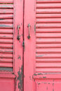 Pink wooden door Royalty Free Stock Photo