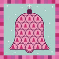 Pink xmas decoration greeting card Royalty Free Stock Photo