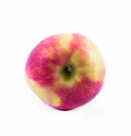 Pink - yellow apple on a white background - side view Royalty Free Stock Photo