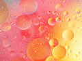 Pink and yellow bubbly background pastel shades macro shot Royalty Free Stock Photography