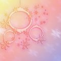 Pink and yellow christmas backgrounds stars new year Stock Photos