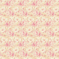 Pink and yellow roses floral repeat background Royalty Free Stock Photo
