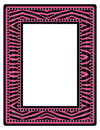 Pink Zebra Frame Royalty Free Stock Photo