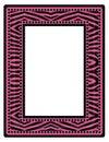 Pink Zebra Frame Royalty Free Stock Photo