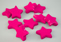 Pinks stars pink sats scattered on grey background d illustation Royalty Free Stock Photography