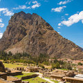 Pinkuylluna, archeological site at Ollantaytambo Royalty Free Stock Photo