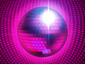 Pinky disco sphere Stock Image