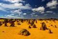 Pinnacles desert australia the in the nambung national park western the are limestone formations contained within nambung Stock Photography