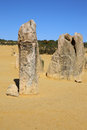 Pinnacles desert rock formation in the australian the in nambung national park western australia Royalty Free Stock Photos