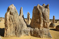 Pinnacles desert rock formation in the australian the in nambung national park western australia Royalty Free Stock Image
