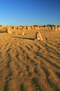 Pinnacles Desert,Western Australia Royalty Free Stock Photos