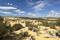 The pinnacles view of desert in numbung national park australia Royalty Free Stock Image