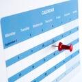 Pinned on calendar Royalty Free Stock Photo