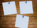 Pinned white paper Royalty Free Stock Photo