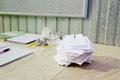 Pinned white pieces of paper image a Royalty Free Stock Images