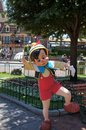 Pinocchio dancing on main street at disneyland in california Stock Photography