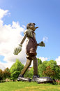 Pinocchio statue by jim dine from cincinatti Stock Images