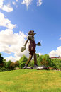 Pinocchio statue by jim dine from cincinatti Stock Image
