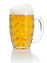 Pint of lager beer Royalty Free Stock Photography