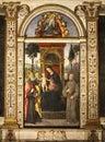 Pinturicchio. Madonna and Child Enthroned with Saints. Santa Maria del Popolo. Rome, Italy