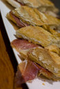 Pintxo Jamon Serrano or Spanis Royalty Free Stock Photo