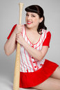 Pinup Baseball Player Stock Photo