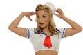 Pinup sailor girl