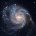 Pinwheel Galaxy Messier 101, M101 in the constellation Ursa Major Royalty Free Stock Photo