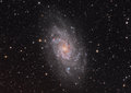 Pinwheel galaxy triagulum image of the commonly known as the in the constellation Stock Image