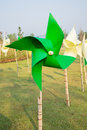 Pinwheel in the garden Royalty Free Stock Photo