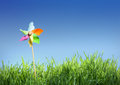 Pinwheel on the grass Royalty Free Stock Photo