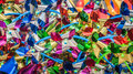 Pinwheels colorful children s shiny background Royalty Free Stock Photos