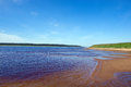 Pinyega estuary the confluence of the northern dvina Royalty Free Stock Photography