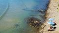 Piombino and coast, view in Piombino, Tuscany, Italy, Europe Royalty Free Stock Photo