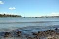Piombino, Salivoli, Livorno, coast, sky, boats and tyrrhenian sea Royalty Free Stock Photo