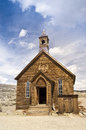 Pioneer Church at Bodie Ghost Twon Royalty Free Stock Images