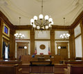 Pioneer Courthouse Courtroom Portland Oregon Stock Images